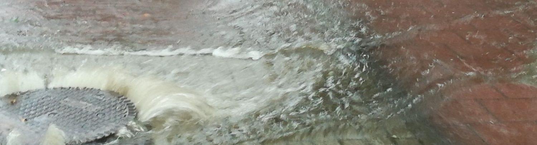 wateroverlast op straat